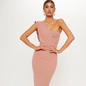 Pretty Little Thing One Shoulder Midi Dress